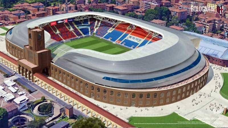 Una modellazione 3D tra passato e futuro per il nuovo stadio del Bologna