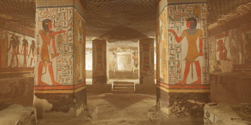 3ds Max: la ricostruzione tridimensionale della Tomaba di Nefertari